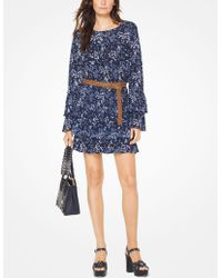 Michael Kors - Floral Ruffled Top - Lyst