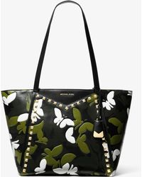 f8557a5e1eb Michael Kors - Whitney Large Butterfly Camo Leather Tote Bag - Lyst