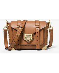 MICHAEL Michael Kors - Manhattan Small Leather Crossbody Bag - Lyst