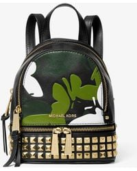 Michael Kors Rhea Mini Butterfly Camo Leather Backpack
