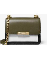 9f3b877f88b6 MICHAEL Michael Kors - Jade Extra-small Tri-color Leather Crossbody Bag -  Lyst