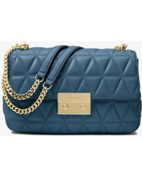 9b891adff54a MICHAEL Michael Kors - Sloan Large Quilted-leather Shoulder Bag - Lyst