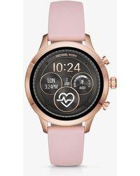 Michael Kors - Smartwatch Runway in tonalità oro rosa e silicone - Lyst