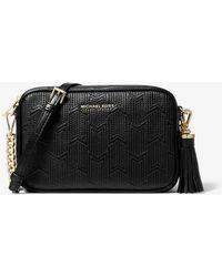 6dfc01c016fb MICHAEL Michael Kors - Ginny Medium Deco Quilted Leather Crossbody Bag -  Lyst