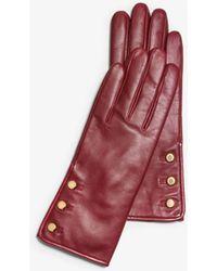 Michael Kors - Triple-button Leather Gloves - Lyst