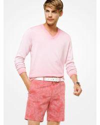 Michael Kors - Gradient Cotton V-neck Pullover - Lyst
