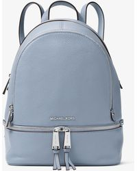 0e16b65a67fb Michael Kors - Rhea Medium Leather Backpack - Lyst
