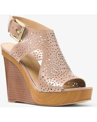 Michael Kors - Josephine Perforated Leather Wedge - Lyst