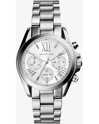 Michael Kors - Mini Bradshaw Silver Tone Women's Watch - Lyst