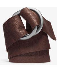Michael Kors - Double-ring Leather Belt - Lyst