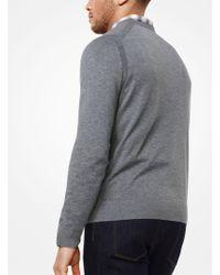 Michael Kors | Cotton V-neck Pullover | Lyst