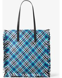 aff757ed1694 Michael Kors - Maldives Large Madras Woven Leather Tote - Lyst