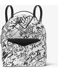 Michael Kors - Jessa Small Graffiti Leather Convertible Backpack - Lyst