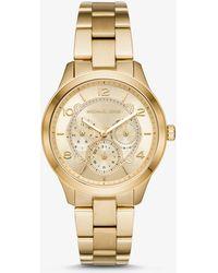 855290c59d6a Michael Kors Layton Silver-tone Watch in Metallic - Lyst