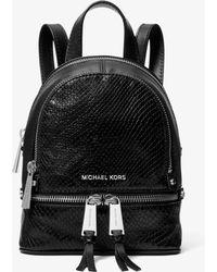 7b281006b5161 Michael Kors - Rucksack Rhea Mini aus Leder mit Pythonprägung - Lyst