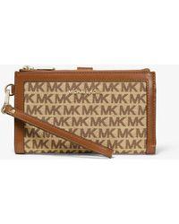 MICHAEL Michael Kors - Adele Logo Jacquard Smartphone Wallet - Lyst