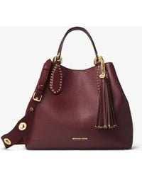 Michael Kors - Brooklyn Large Leather Satchel - Lyst