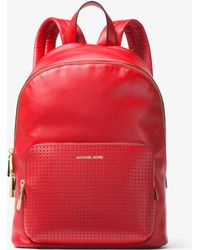 Michael Kors - Wythe Large Perforated Leather Backpack - Lyst