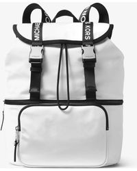 7ac0f99f4b90 Michael Kors Michael Signature Large Backpack in White - Lyst