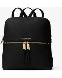 Michael Kors - Rhea Medium Slim Leather Backpack - Lyst