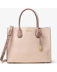 Michael Kors - Mercer Large Leather Tote - Lyst