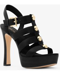 d1b5375e13c Michael Kors Annaliese Leather Platform Sandal in Black - Lyst