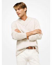 Michael Kors - Cotton-blend V-neck Pullover - Lyst