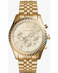 Michael Kors - Lexington Gold-tone Watch - Lyst