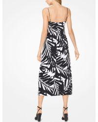 Michael Kors | Palm Crepe-cady Slip Dress | Lyst