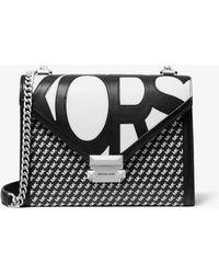 Michael Kors - Whitney Large Graphic Logo Convertible Shoulder Bag - Lyst