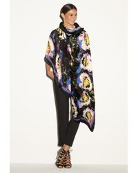 MILLY - Midnight Floral Scarf - Lyst