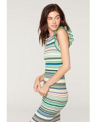 MILLY - Micro Stripe Mini Mermaid Dress - Lyst