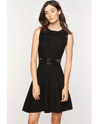 MILLY - Embellished Gem Flare Dress - Lyst