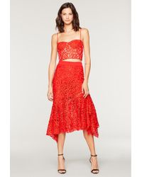 MILLY - Lace Charlotte Skirt - Lyst