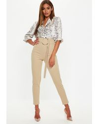 b53d288cc8797 Lyst - Missguided Plus Size Khaki Zip Front Circle Ring Cigarette ...