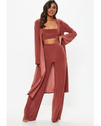Missguided - Rust Slinky 3 Piece Co Ord Set - Lyst
