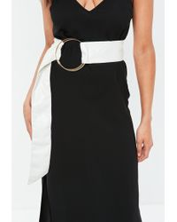 Missguided - White Large Ring Detail Belt - Lyst