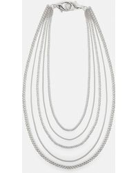 Missguided - Silver Chain Belt - Lyst