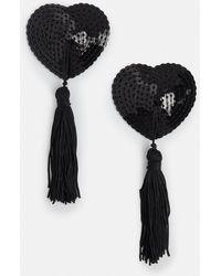 Missguided - Black Heart Nipple Tassels - Lyst