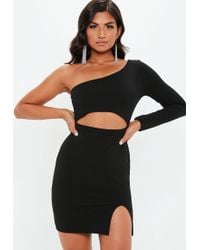 ca212cbcbdb0f Lyst - Missguided White One Shoulder Cut Out Mini Dress in White