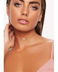 Missguided - Mini Coin Choker Necklace - Lyst