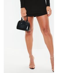 Missguided - Black Micro Mini Patent Handbag - Lyst
