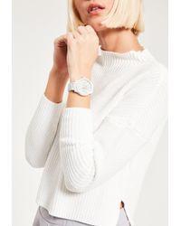 Missguided - White Matte Chrono Detail Bracelet Watch - Lyst