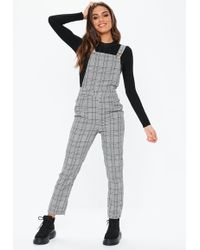 ed25cbcf8dd2 Missguided Grey Tie Strap Ribbed Culotte Jumpsuit in Gray - Lyst