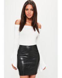 20b8073d16dc Missguided - Tall Black Faux Leather Mini Skirt - Lyst