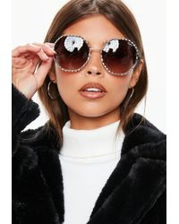 066ad655caf4 High Key Mini Gold Sunglasses.  85. Missguided · Missguided - Quay Australia  Breeze In Gold Brown Sunglasses - Lyst