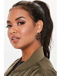 Missguided - Gold Look Flat Twist Chain Earrings - Lyst
