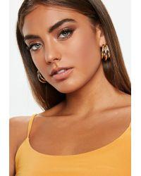 Missguided - Chunky Tube Hoop Earrings - Lyst