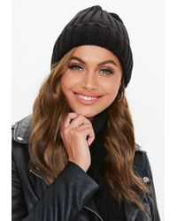 Lyst - Missguided Grey Double Pom Pom Beanie in Gray 3995179dbcef