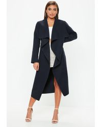 9cee0c1572b Missguided Plus Size Grey Oversized Waterfall Duster Coat in Gray - Lyst
